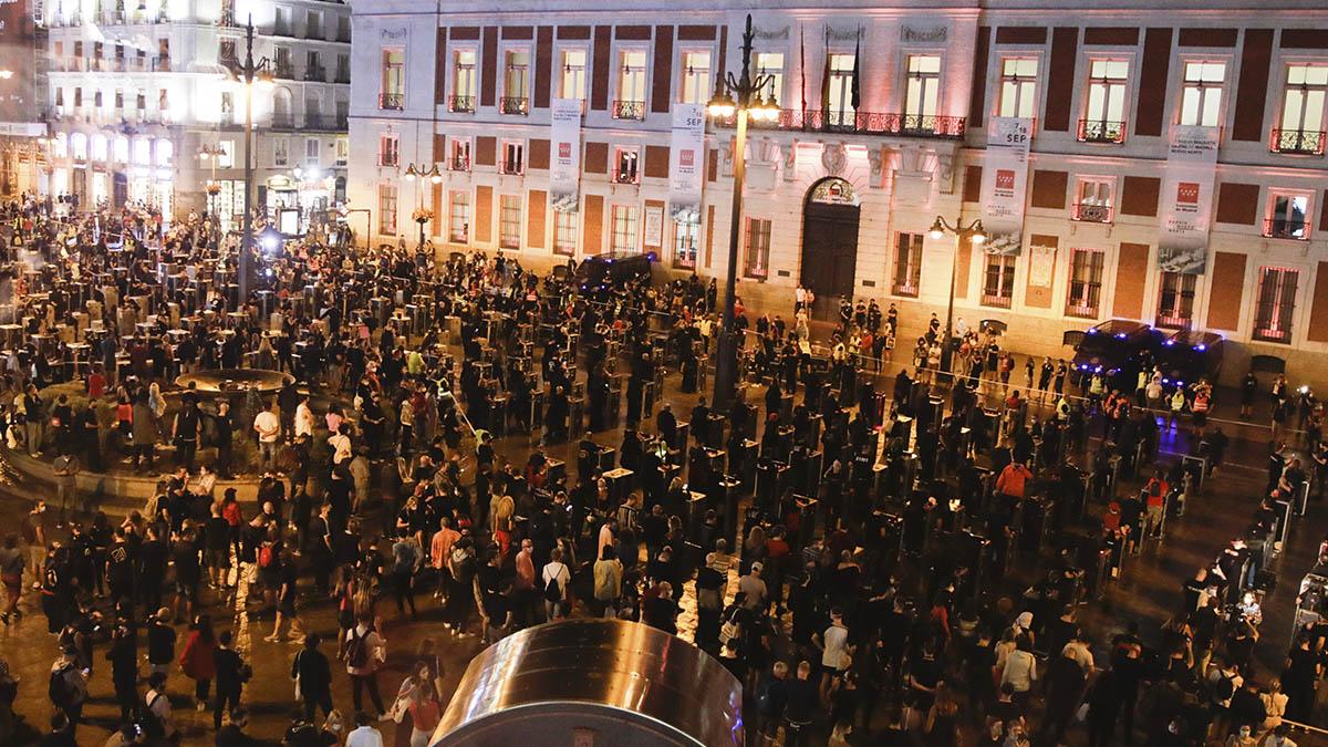 Manifestación convocada por la asociación 'Alerta Roja Eventos' en Madrid el 17 de septiembre.