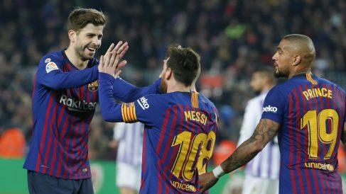 Boateng compartió equipo con Messi en 2018. (AFP)