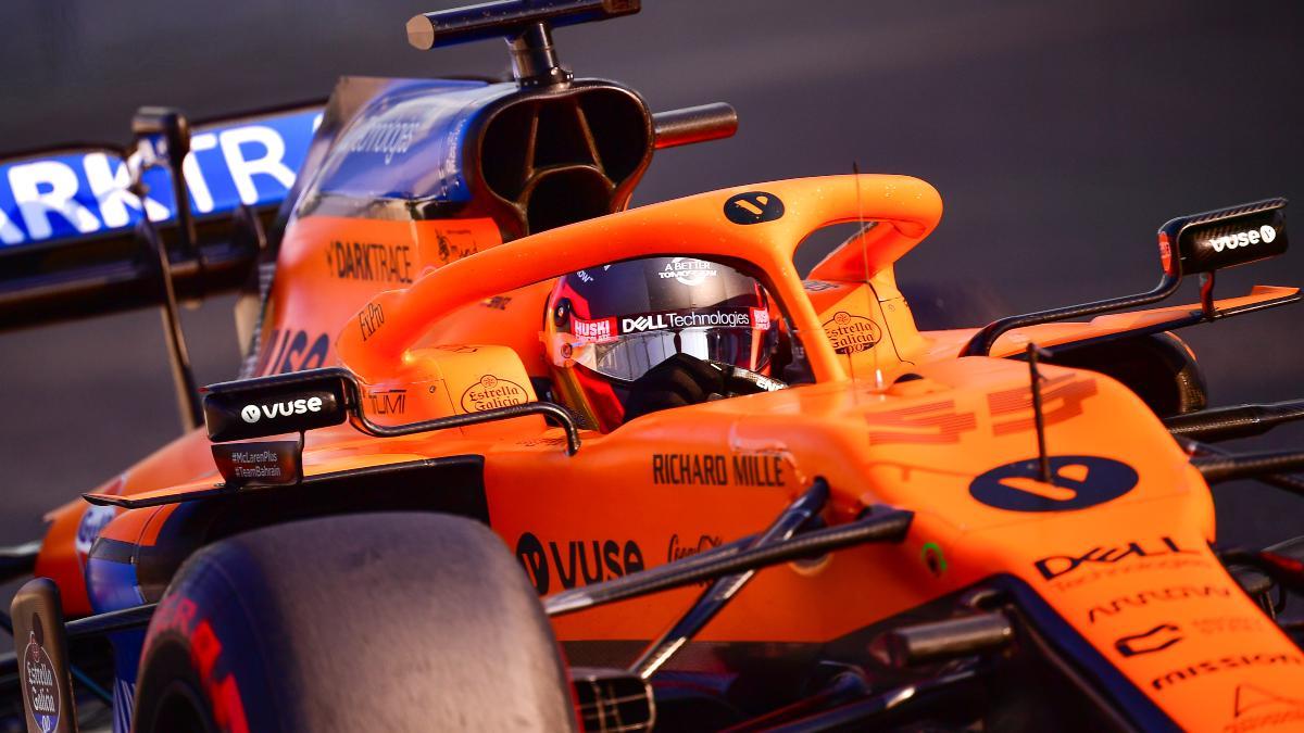 Carlos Sainz durante la sesión de clasificación del Gran Premio de Abu Dabi. (AFP)