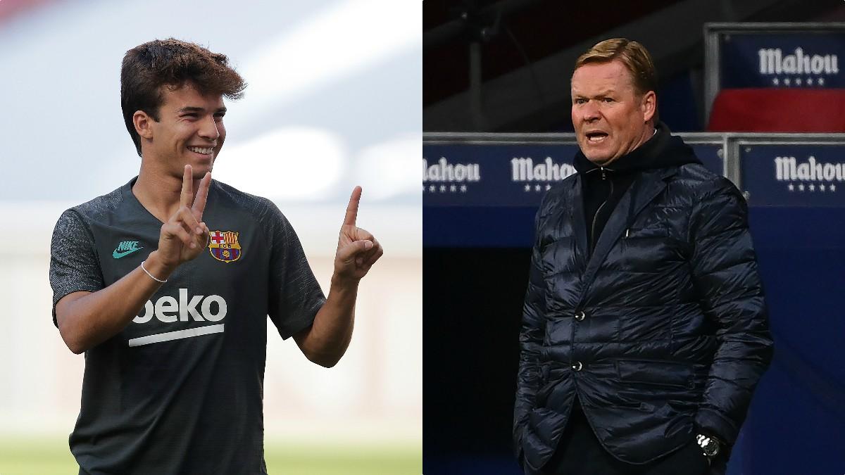 Riqui Puig y Ronald Koeman. (AFP)
