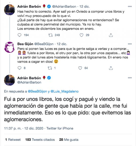 El presidente de Asturias sale a hacer compras y riñe a los ciudadanos por hacer lo mismo que él