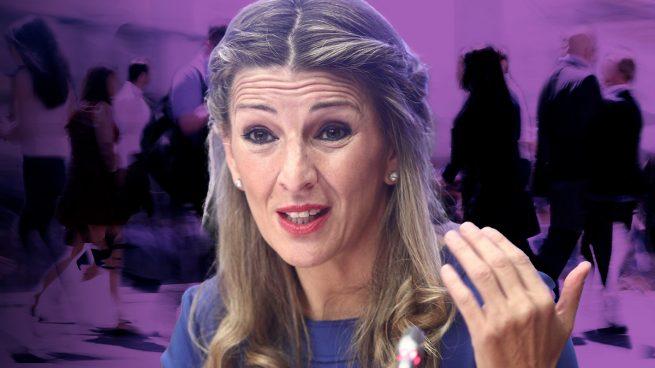 Yolanda Díaz interviene en los ERE de BBVA y Caixabank y pide a los bancos que reduzcan los despidos