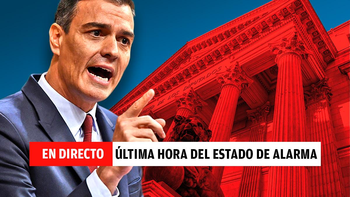 Pedro Sánchez comparece sobre la última hora del estado de alarma.