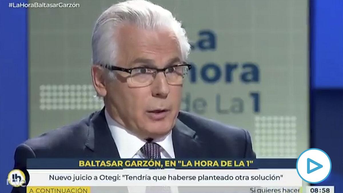 TVE da alas a Baltasar Garzón en su defensa de Arnaldo Otegi: «Un nuevo procedimiento de juicio oral es ya una condena». (Vídeo: TVE)