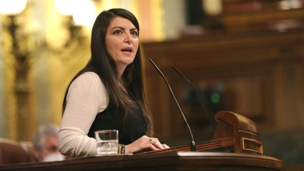 La diputada por Granada y portavoz adjunta del grupo de Vox en el Congreso, Macarena Olona. (Foto: Europa Press)