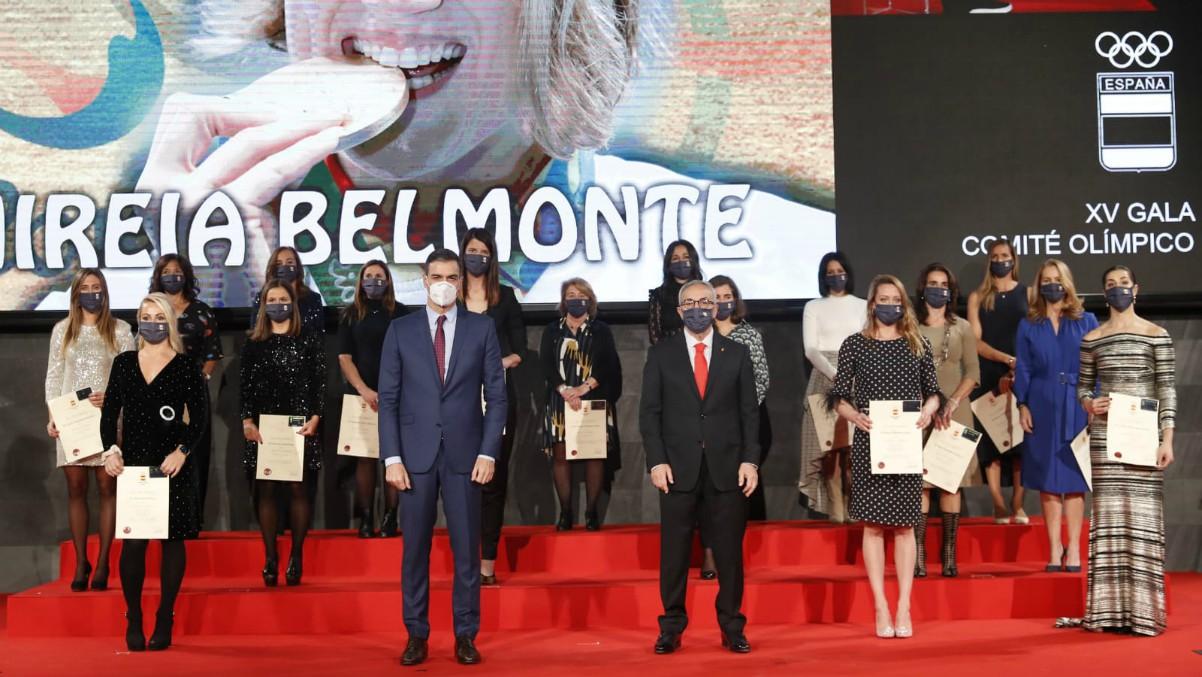 Pedro Sánchez estuvo en la gala del COE.
