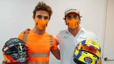 Lando Norris y Carlos Sainz. (@McLarenF1)
