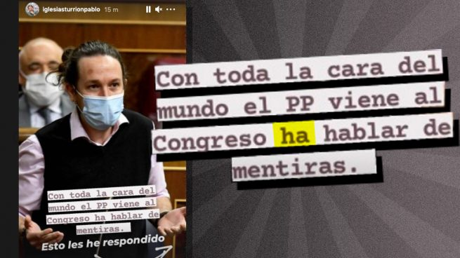 La peor falta de ortografía de Iglesias que sonrojaría a un niño: «El PP viene ha hablar de mentiras»