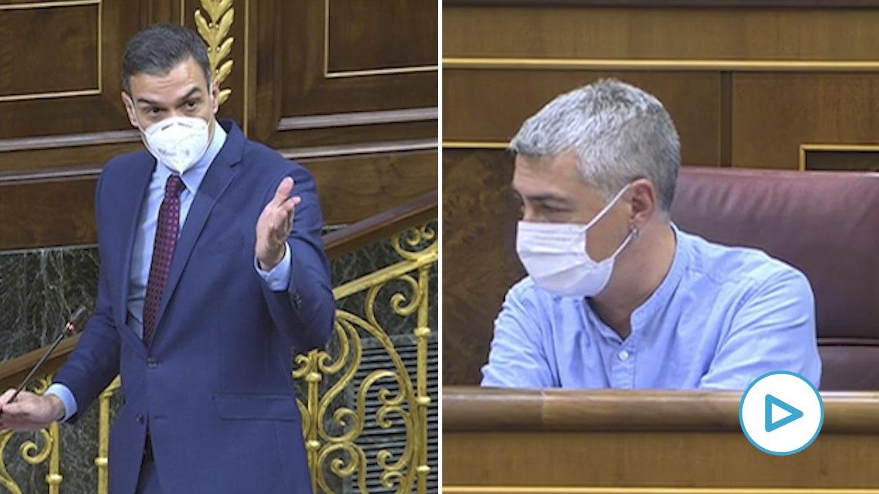 Pedro Sánchez y Oscar Matute en el Congreso