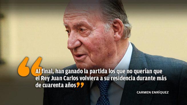 El abortado regreso del Rey Juan Carlos a España por Navidad
