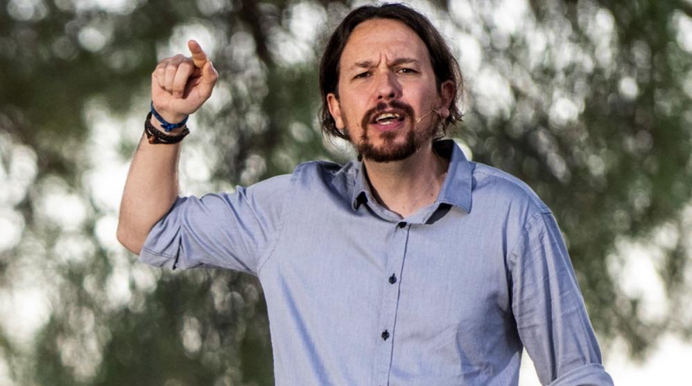 El líder de Podemos Pablo Iglesias en un mitin en Madrid. (Foto. Podemos)
