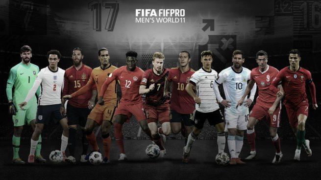 El equipo ideal de los premios 'The Best' 2020. (fifa.com)