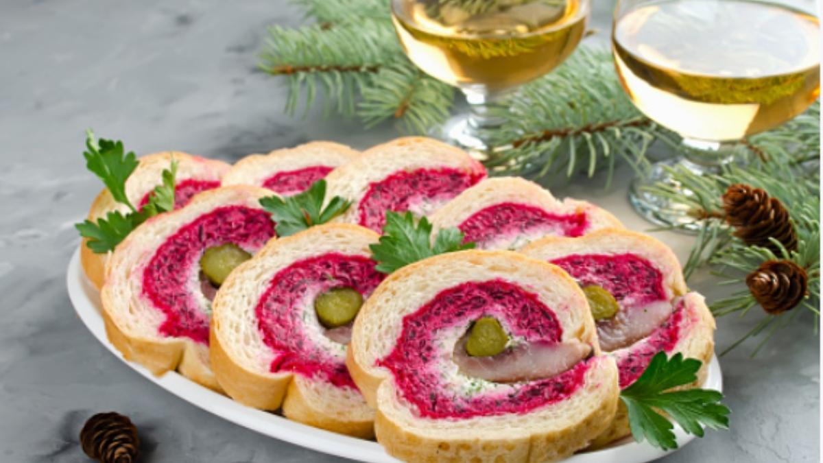 Recetas de rollitos de pan de molde para las cenas y comida de Navidad