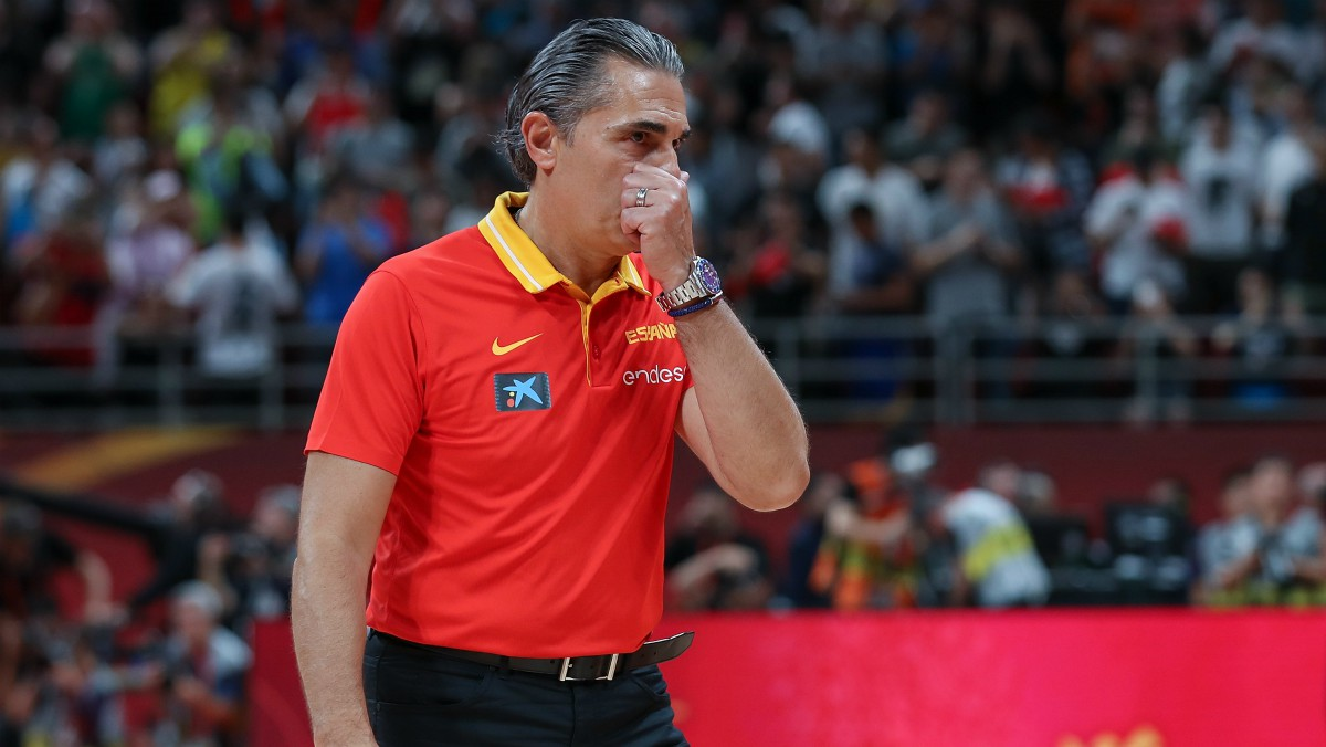 Sergio Scariolo, en el Mundial 2019. (Getty)