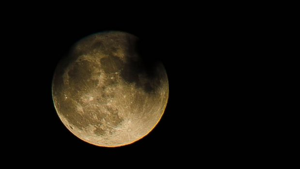 Cráteres en la luna