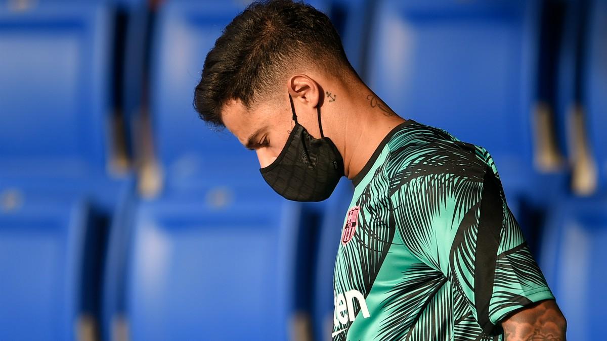Coutinho, en un partido del Barcelona. (AFP)