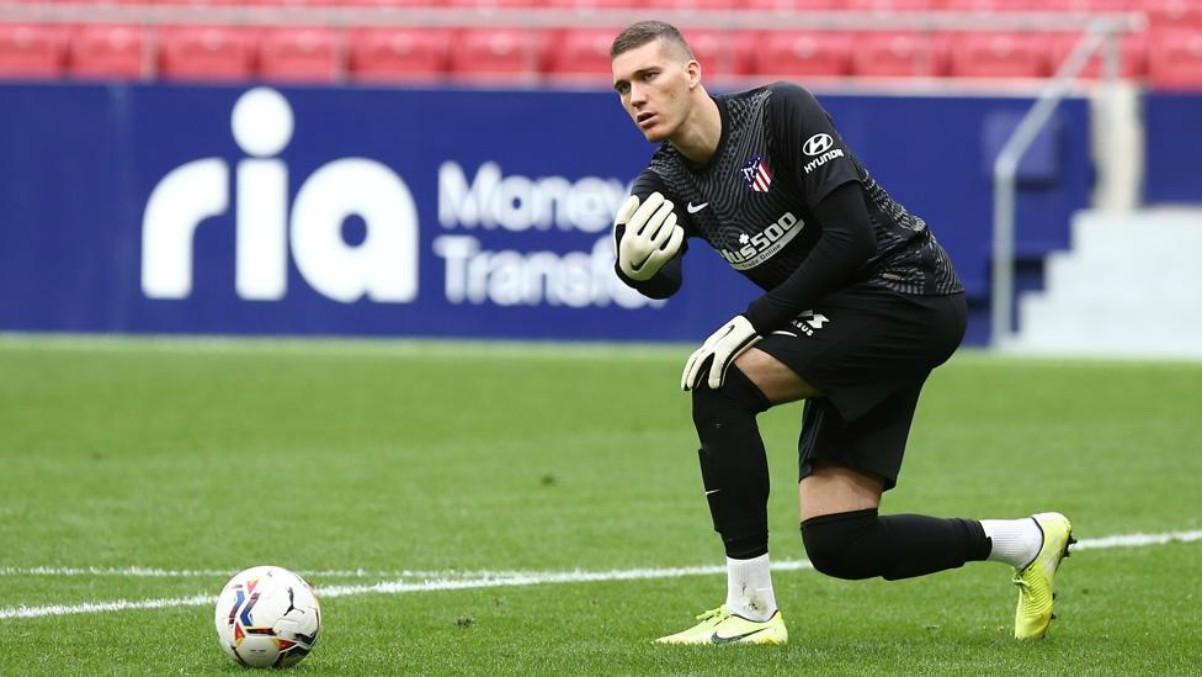 Ivo Grbic durante un partido con el Atlético. (atleticodemadrid.com)