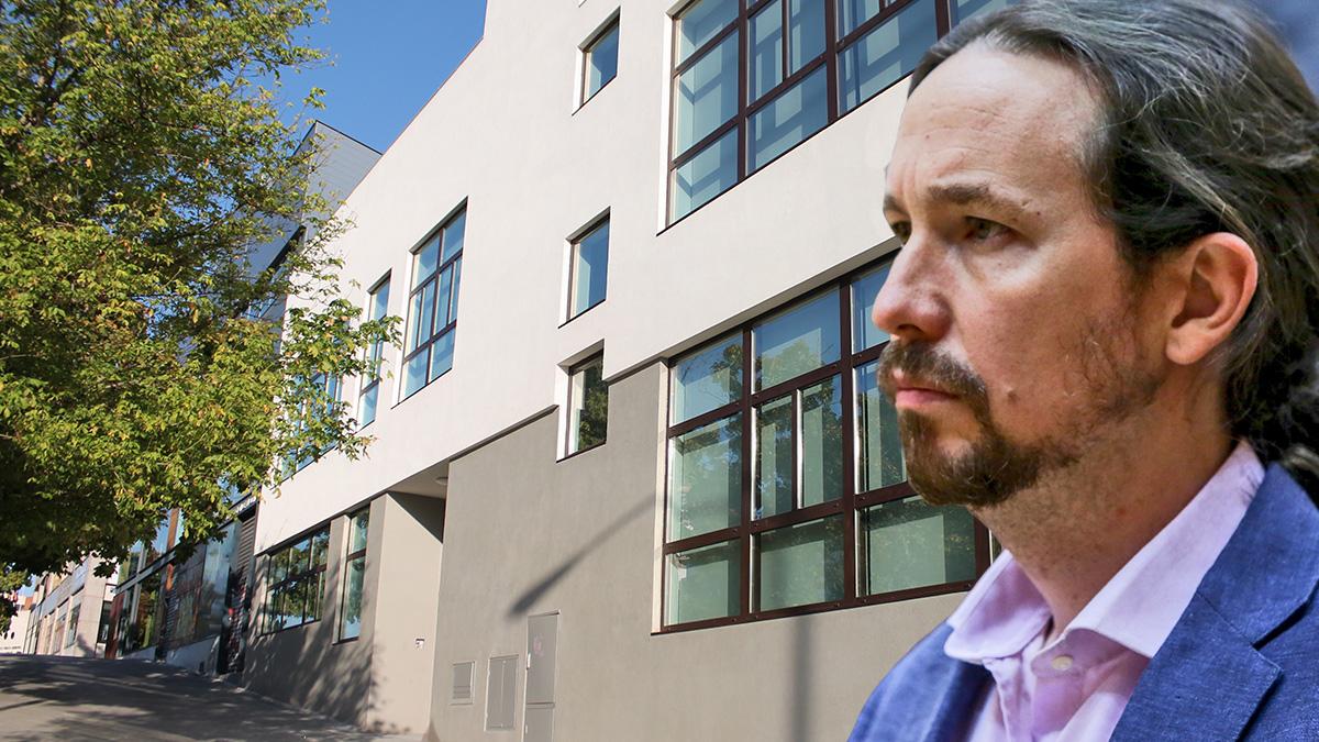 Pablo Iglesias en la nueva sede de Podemos