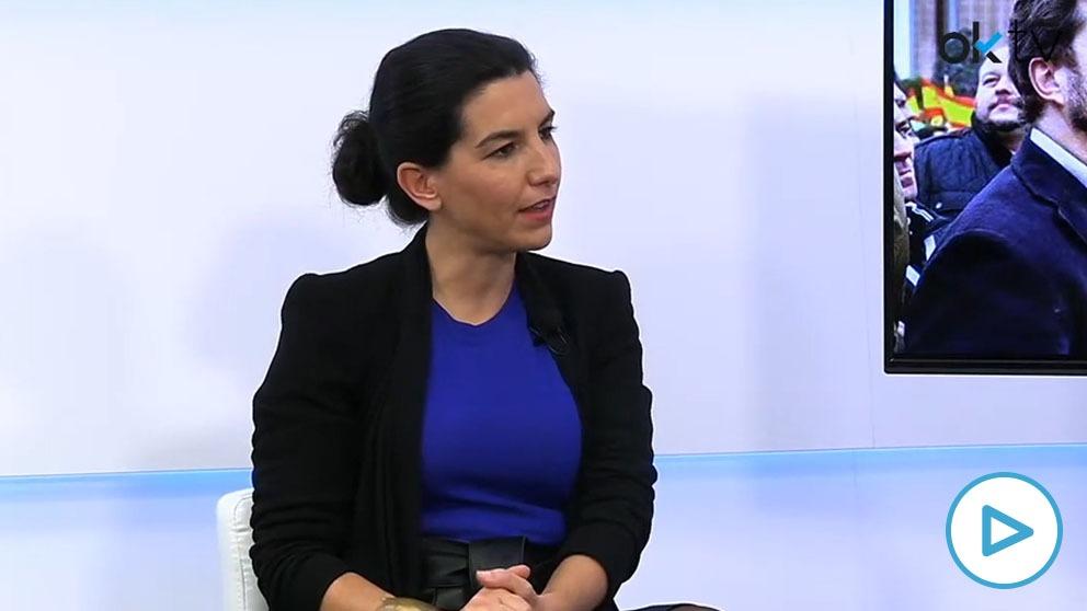 Rocío Monasterio, portavoz de Vox en la Asamblea de Madrid, en HOY RESPONDE de OKDIARIO