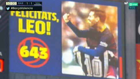 Messi igualó el registro de Pelé. (captura de pantalla)