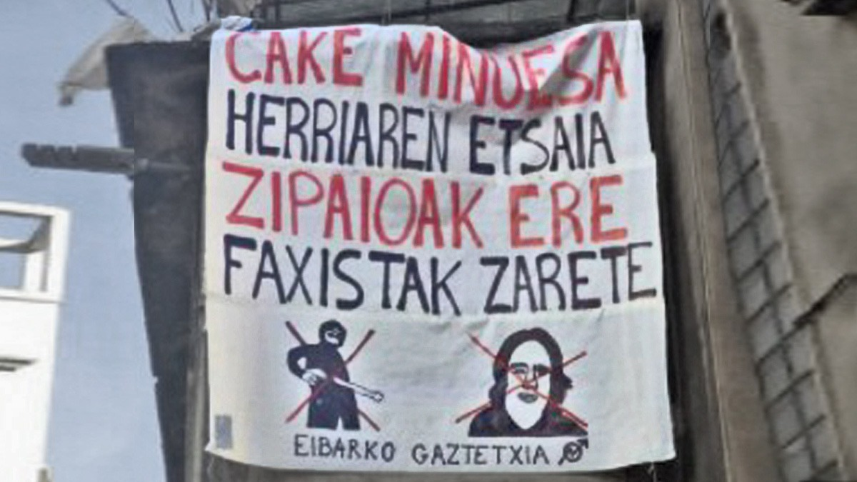 Amenaza de los proetarras a Cake Minuesa en Eibar.