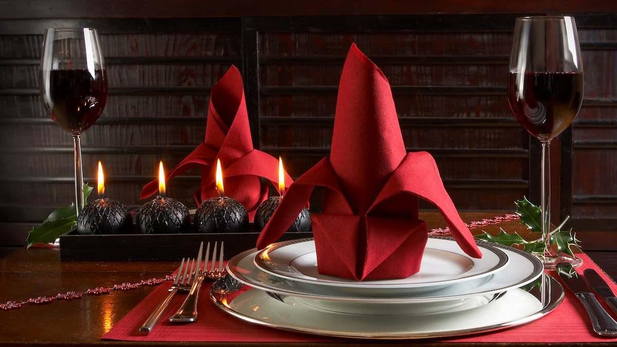 La decoración de la mesa es muy importante en Navidad