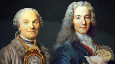 Voltaire junto a Charles Marie de la Condamine