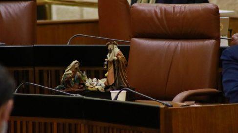 Belén de Vox en el Parlamento andaluz.