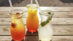 Receta de champán de frutas y otras bebidas sanas para brindar