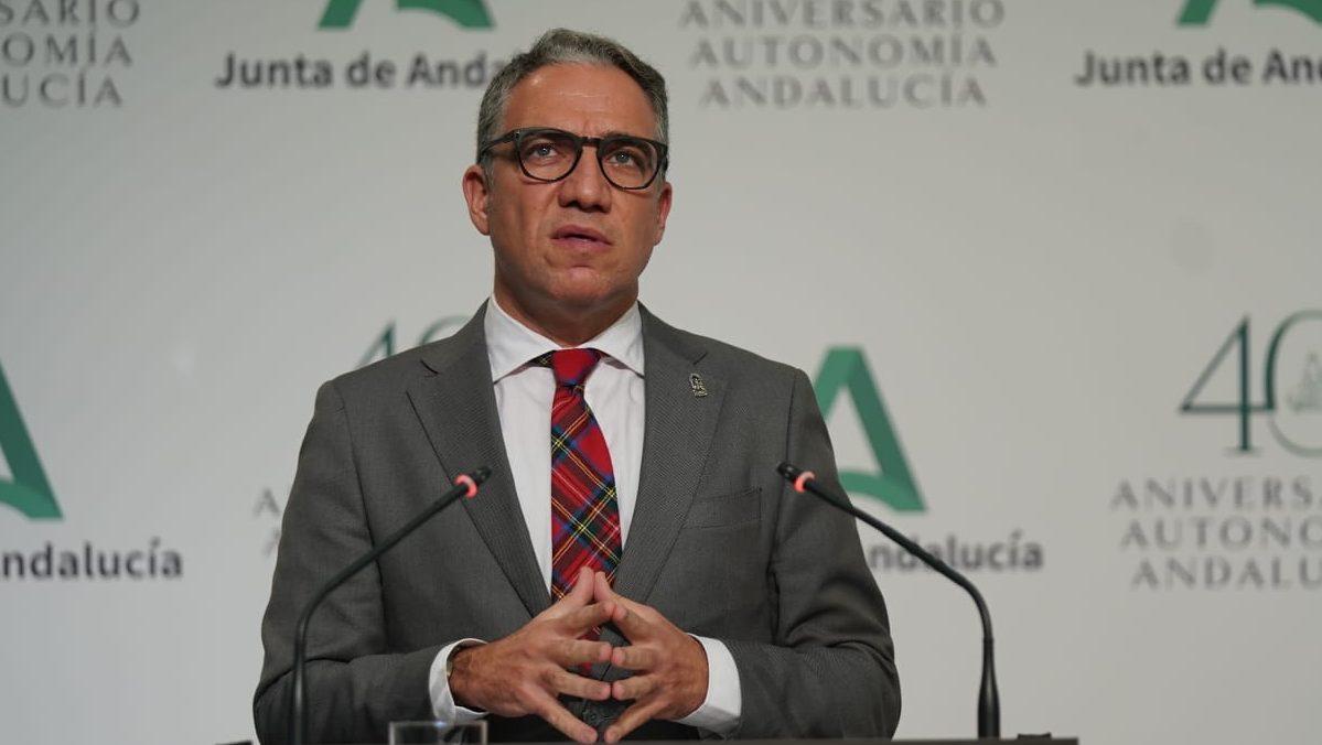 Elías Bendodo, portavoz de la Junta de Andalucía.