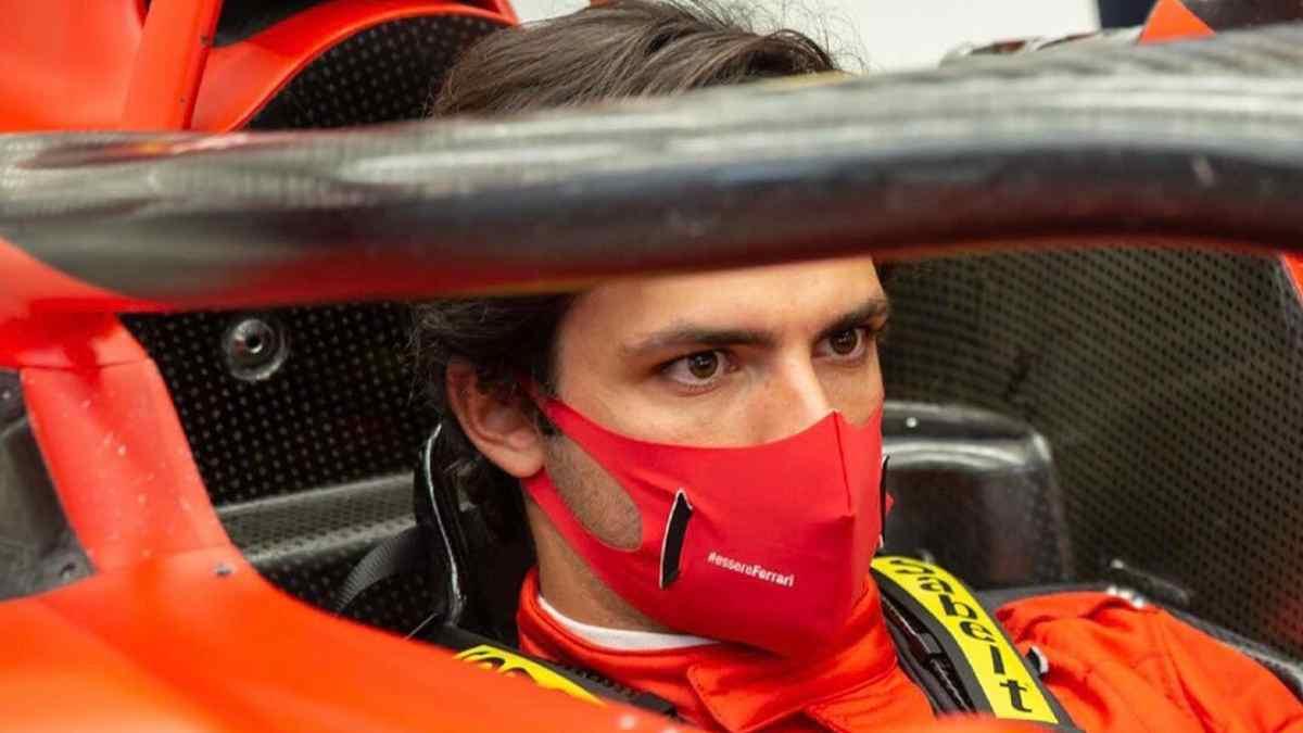 Carlos Sainz, montado en el Ferrari. (@Carlossainz55)