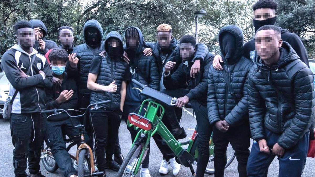 Grupos de exMENAS detectados en Bilbao.