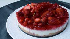 Receta de Tarta de frutos rojos sin horno
