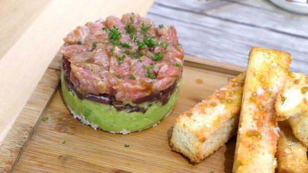 Tartar de atún y guacamole