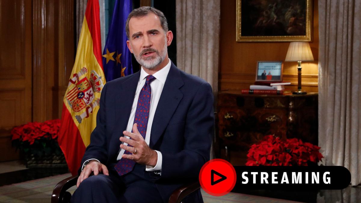 Discurso de Navidad del Rey Felipe VI, streaming en directo.