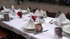 Mesa de Nochebuena en el centro de Bilbao.