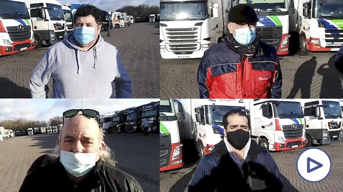 Transportistas españoles en Dover: «Estamos abandonados y apenas nos queda comida»