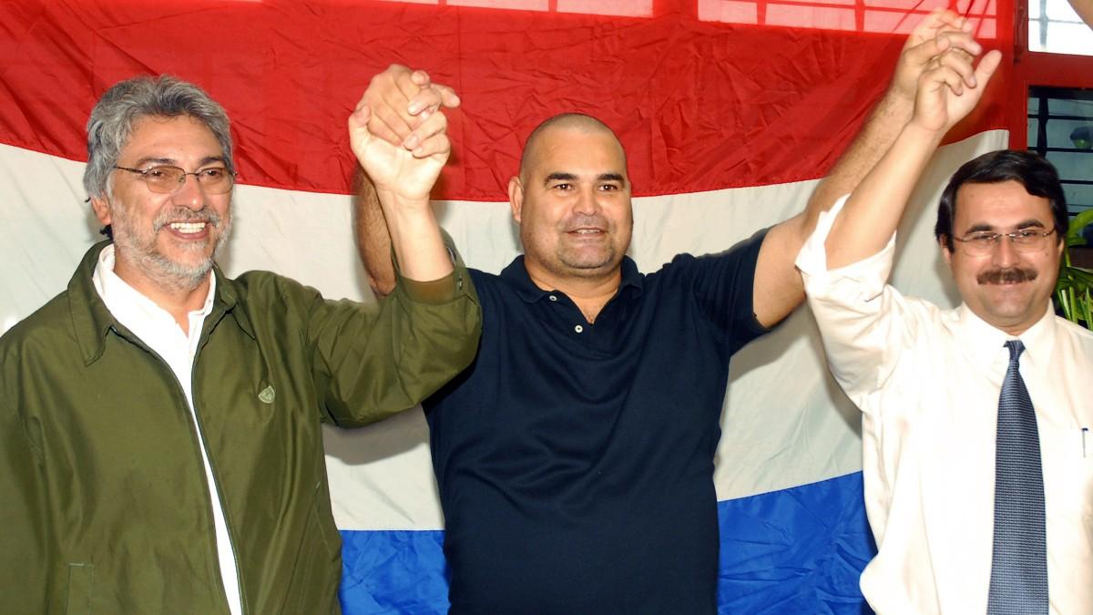 José Luis Chilavert en un acto político en 2008. (AFP)