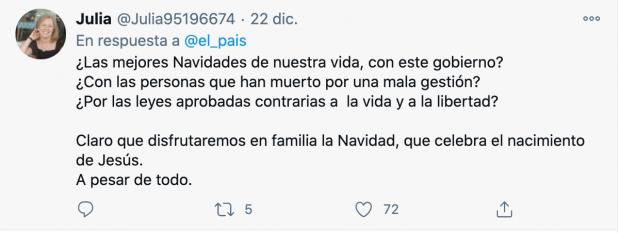 El desprecio del socialcomunista 'El País' a los muertos del Covid: «La Navidad pandémica es la mejor»