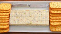 Receta de Turrón salado de queso y frutos secos