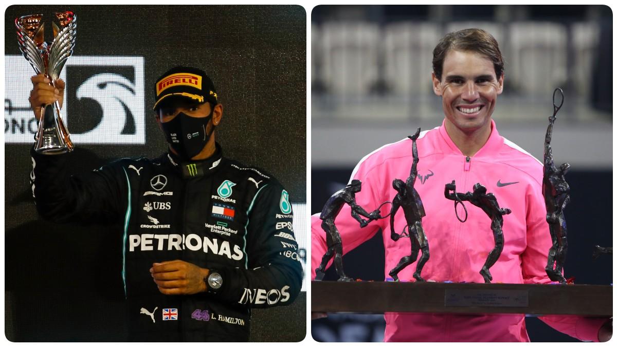 Lewis Hamilton y Rafa Nadal.