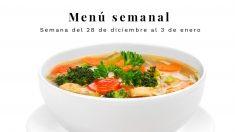 Menú semanal saludable: Semana del 28 de diciembre de 2020 al 3 de enero de 2021