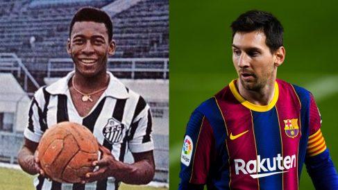 Pelé marcó 1.091 goles con el Santos, incluyendo los no oficiales, por los 681 de Messi.