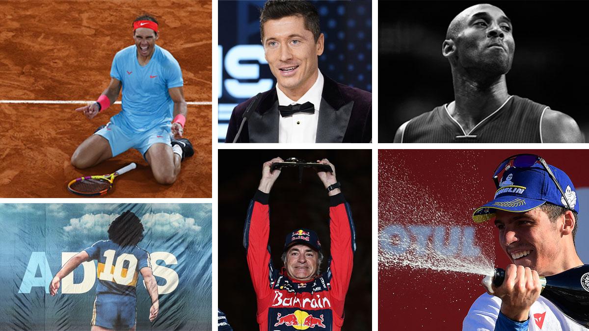 Algunos de los momentos más destacados del deporte en 2020 (Getty y AFP)