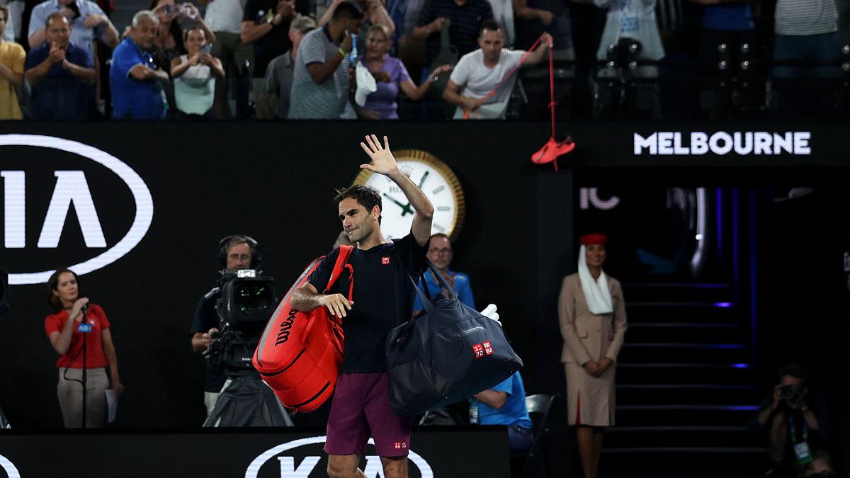 Federer se despide de Melbourne tras caer en la semifinal de 2020 (Getty)