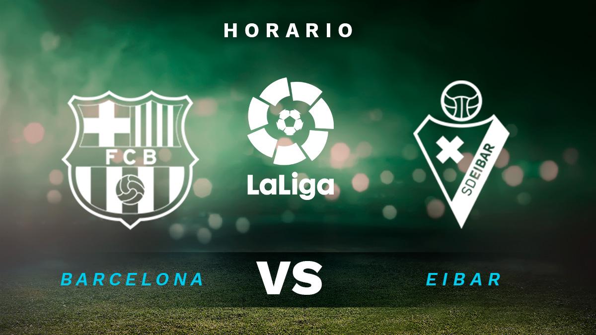 Barcelona – Eibar: dónde ver en directo por TV y online el fútbol de Liga Santander.