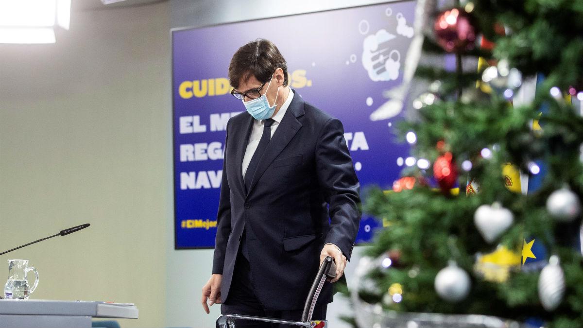 El ministro de Sanidad, Salvador Illa, en una comparecencia. (Foto: Efe)