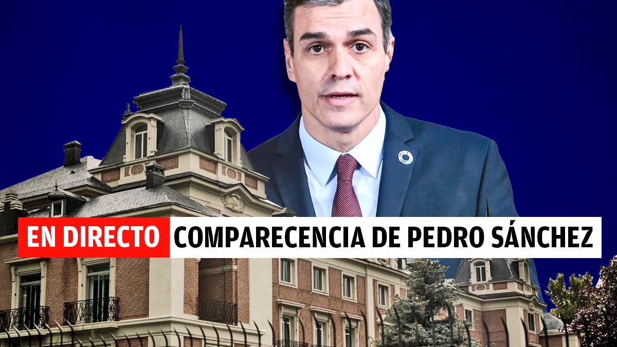 Comparecencia de Pedro Sánchez en directo.