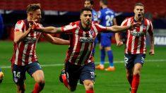 Luis Suárez celebra un gol. (EFE)