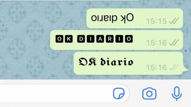 cambiar fuente WhatsApp